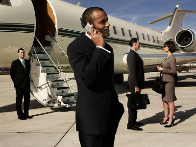 Sentient Jet Business Man