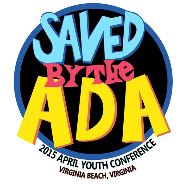 APRIL Youth Conference logo- Saved by the ADA