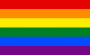 LGBTQ symbol- a colorful rainbow flag