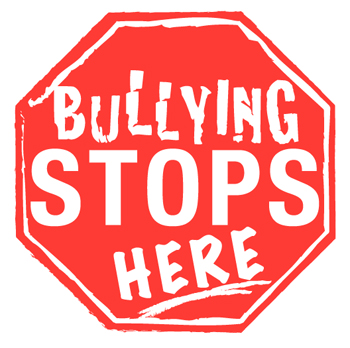 stop sign- Bullying stops here