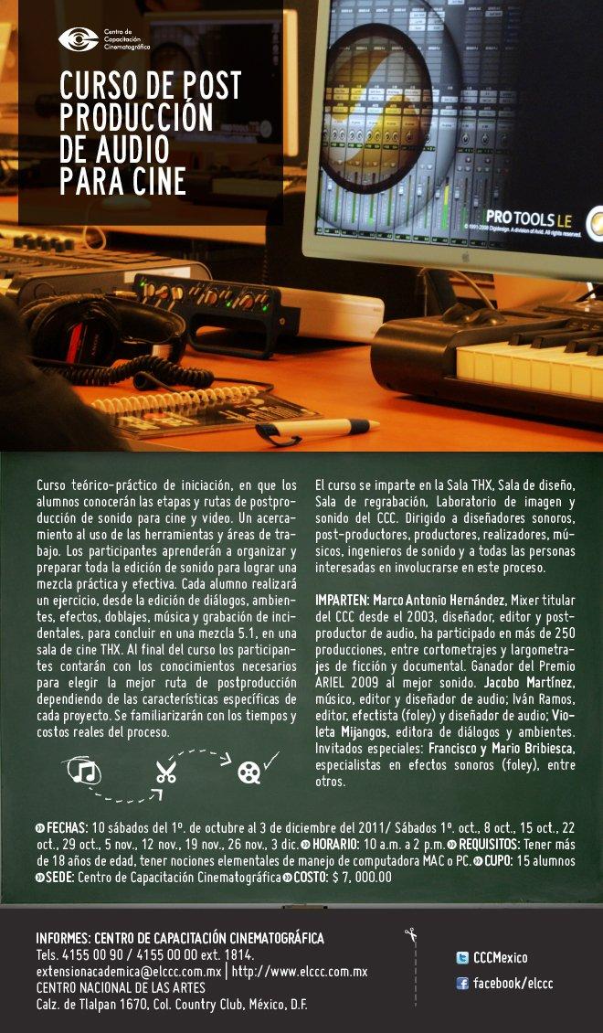 Curso de Postproducción de Audio para Cine