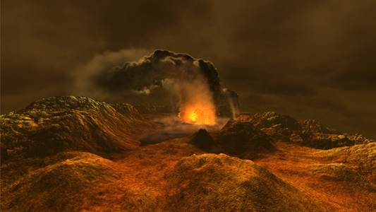 Dynamic Earth volcanoes image