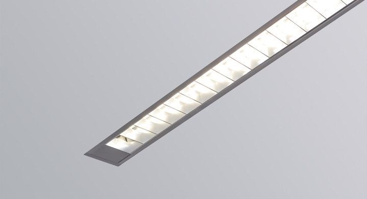 Rail  by Metalumen at 3  wide and 3  high the Rail fits in low plenum installations and is available in a downlight configuration and asymmetric ... & Recessed Linear Series - Apertures 1