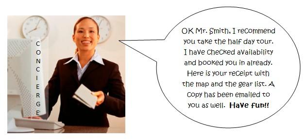 concierge booking