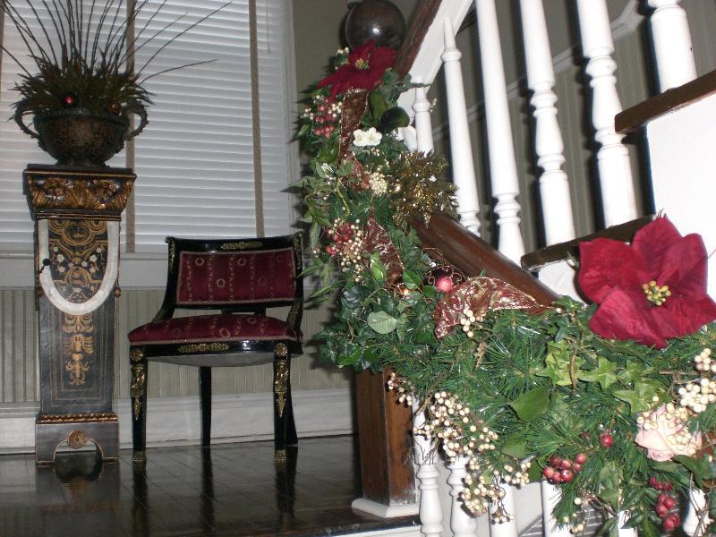 Christmas Banister near Landing