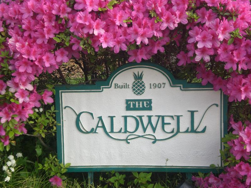 Caldwell Sign in Azaleas