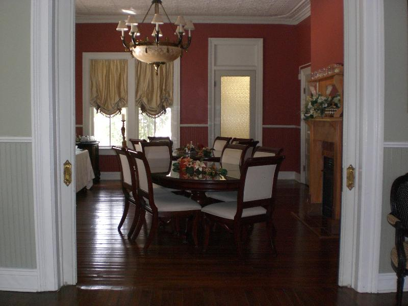 Dining room from side hall