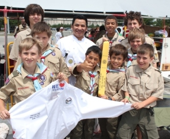 Grotto's Chef, Ricky Cruz with Troop 878 in Iron Horse District