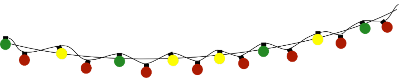 Christmas Tree Lights Graphic