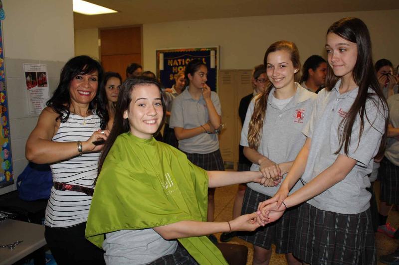 Students donate hair at ResPunzel