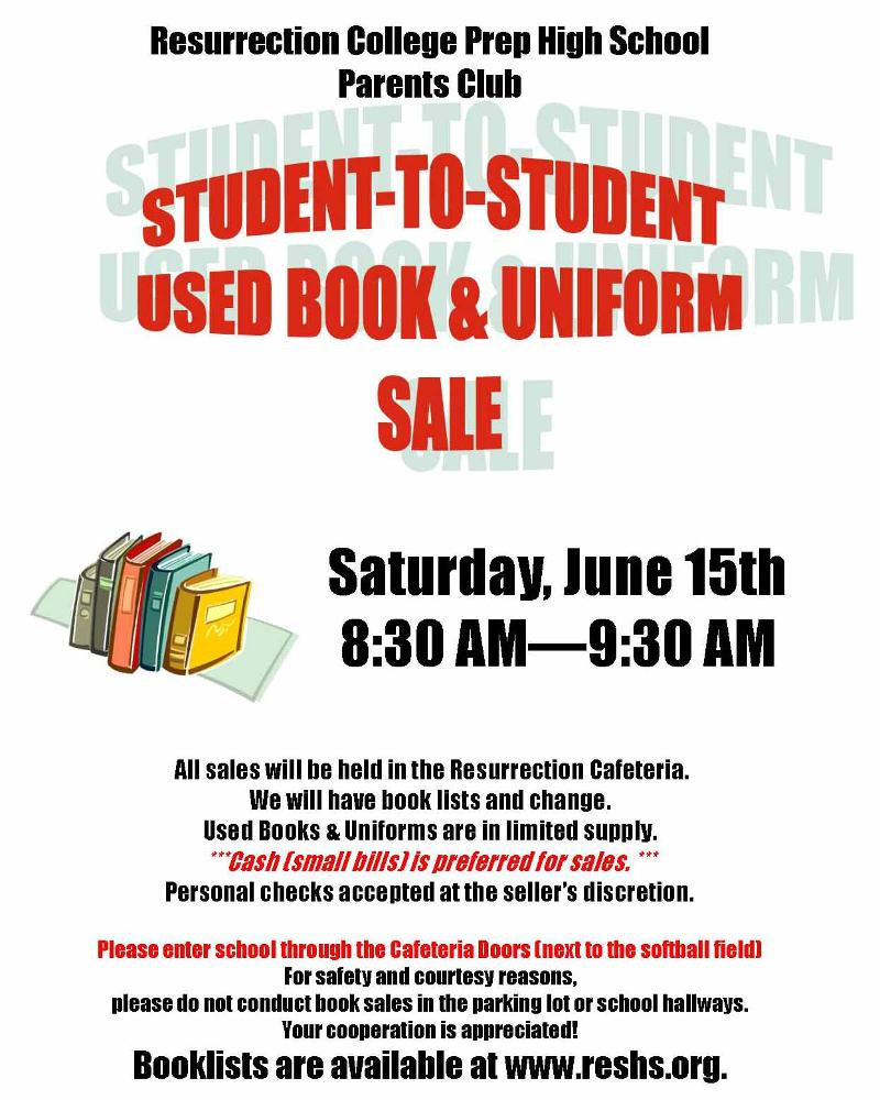 Student to Student Used Book & Uniform Sale