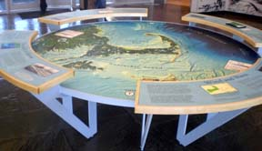 Lobby display at Salt Pond