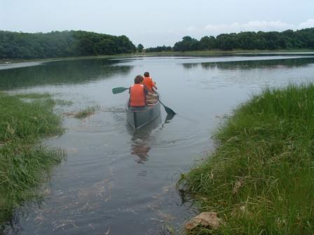 Canoe at Salt Pond
