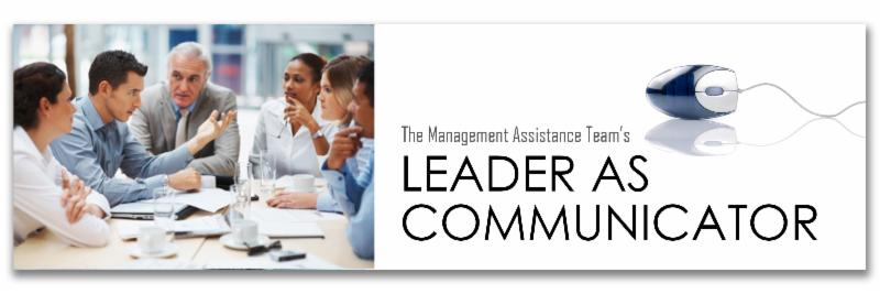 Leader as Communicator