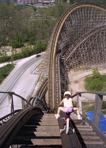 Bike on roller coaster