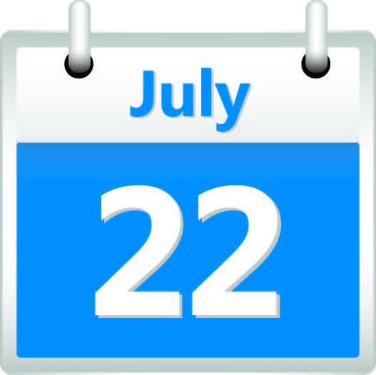 calendar July 22