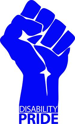 Fist with text _Disability Pride_