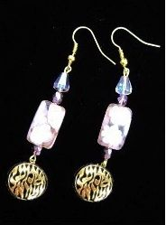 earrings Shema pink gold