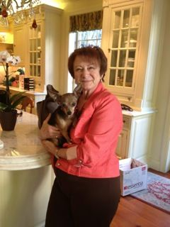 Karen Zeitz with dog