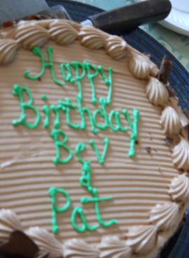 Happy Birthday Bev and Pat
