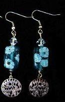 earrings Shema turq silver
