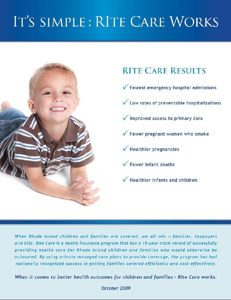 RIte Care Results Cover