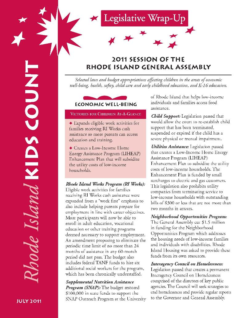 2011 Legislative Wrap-Up