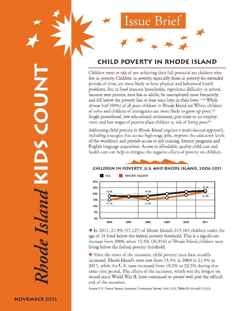 Poverty Issue Brief cover