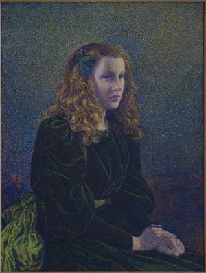 van Rysselberghe's Jeune femme en robe verte
