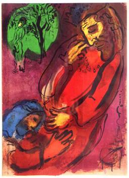 Marc Chagall, David and Abraham