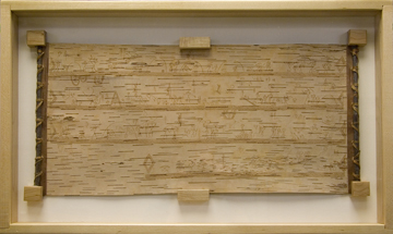 Rolling Head - birch bark scroll