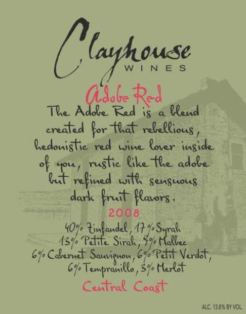 Clayhouse Adobe Red 2008