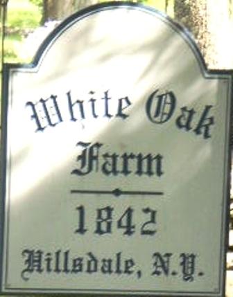 White Oak Farm - farm sign