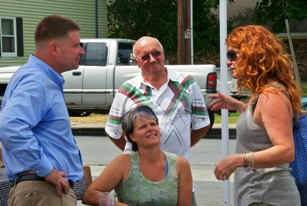 Mayor Speed talks Co-op with Congressman Chris Gibson and Farm On Festival