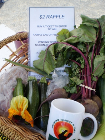 Market raffle supporting educational programs
