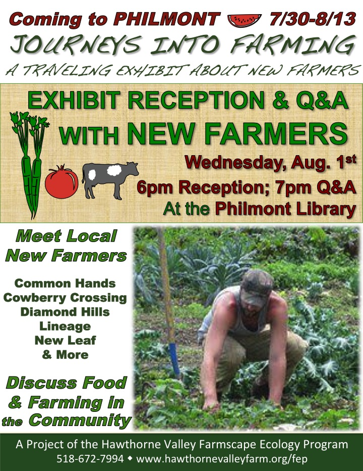New Farmers exhibit - Philmont Library