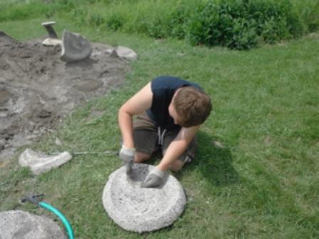 Martin Summer - making birdbaths