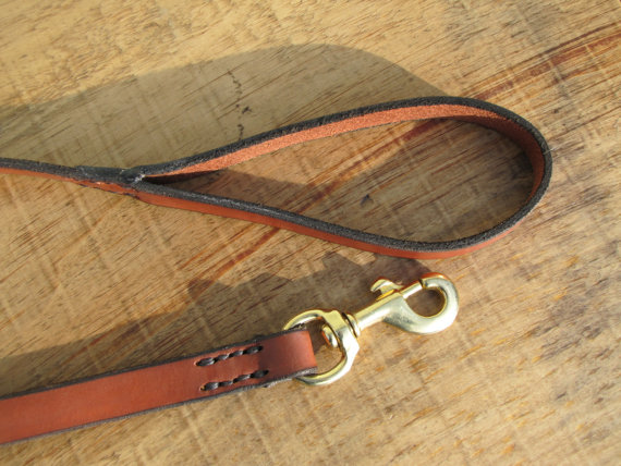 Hawk Studio - handmade leather dog leash