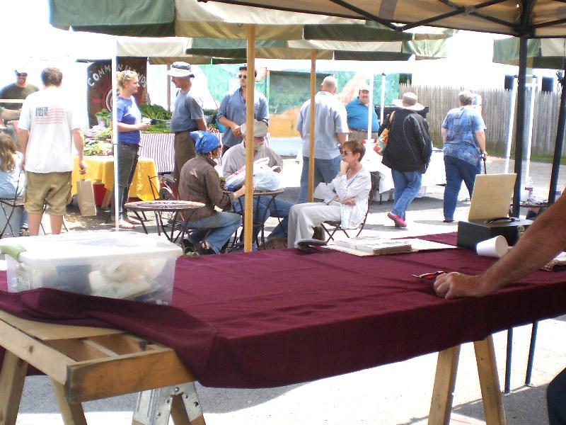 June 3rd - Market shoppers