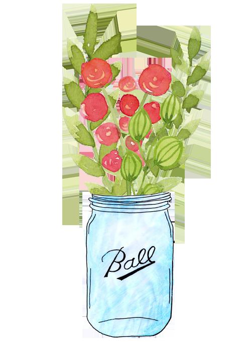 ball jar arrangement