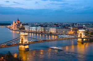 Budapest on the banks of the Danube