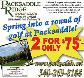 April 2013 Packsaddle Ridge Golf