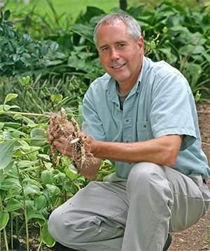 Mark Viette in the garden