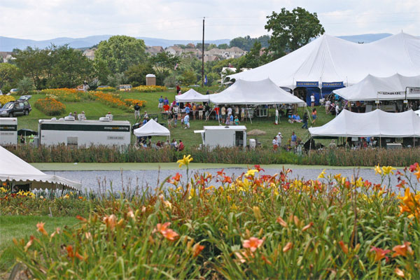 The Daylily and Wine Festival is held each  summer at Viette's