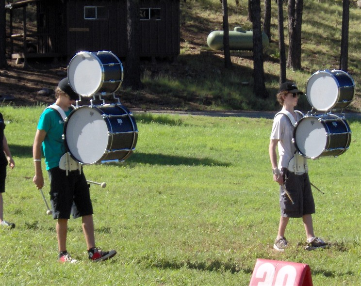 2 Cool Percussion Stacked Marching Bass Drum Kit
