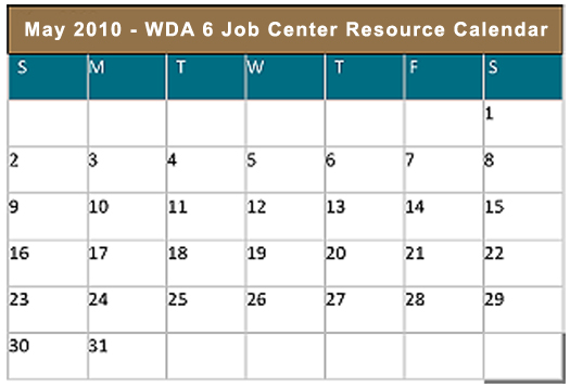 Job Center Resource Calendar