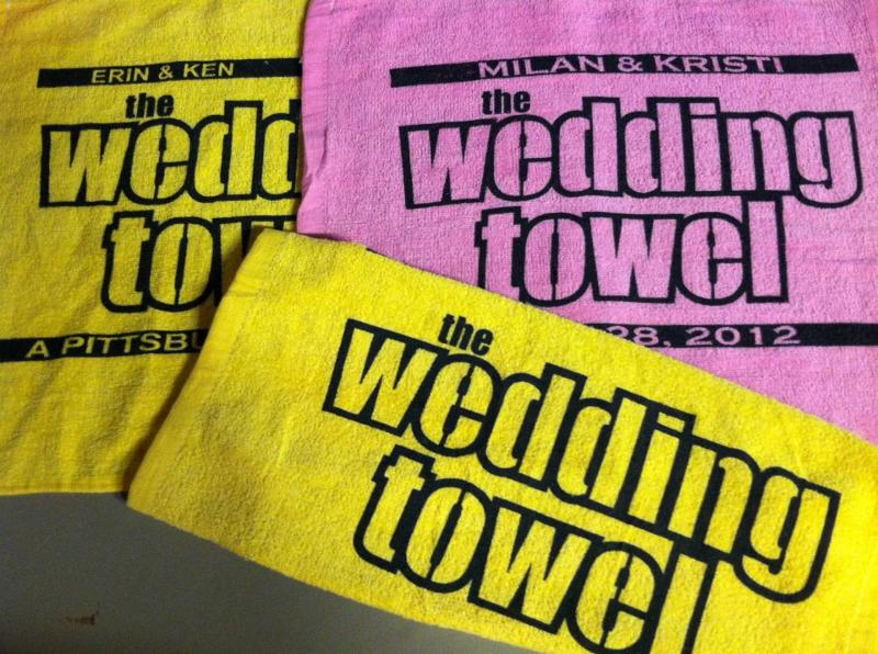Custom Design Wedding Towel