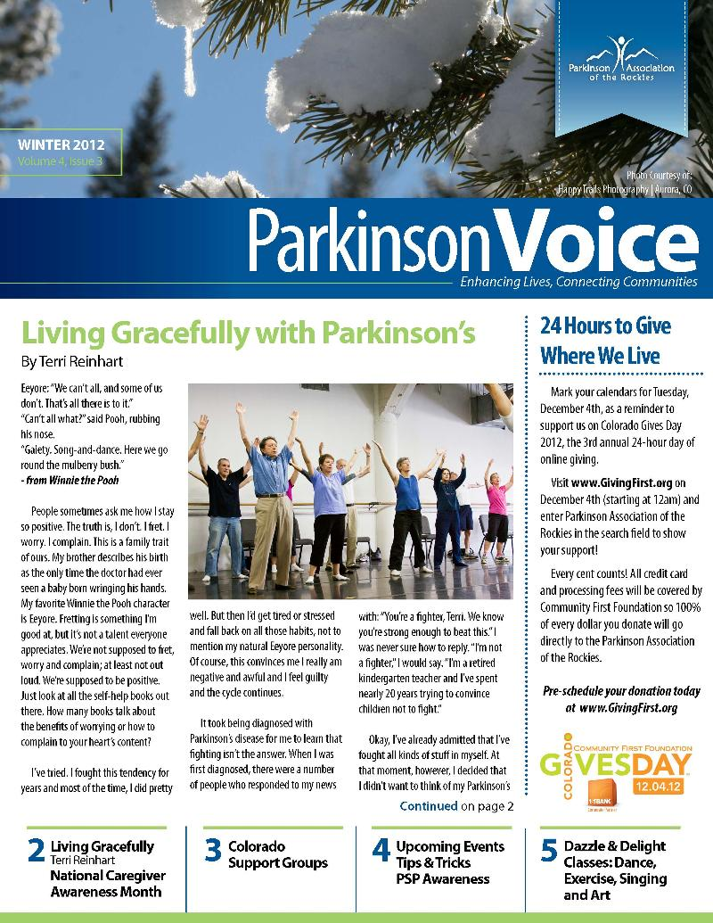 ParkinsonVoice Winter 2012