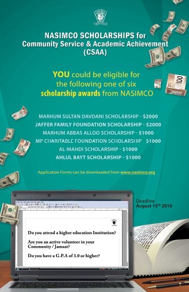 CSAA Scholarship 2010-11