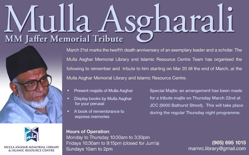 Mulla Asghar Tribute